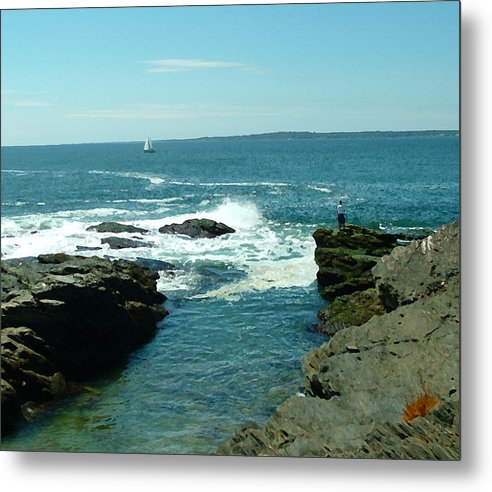 Ocean Metal Print featuring the photograph Rhode Island Beaver Pt by Michael Vinyard