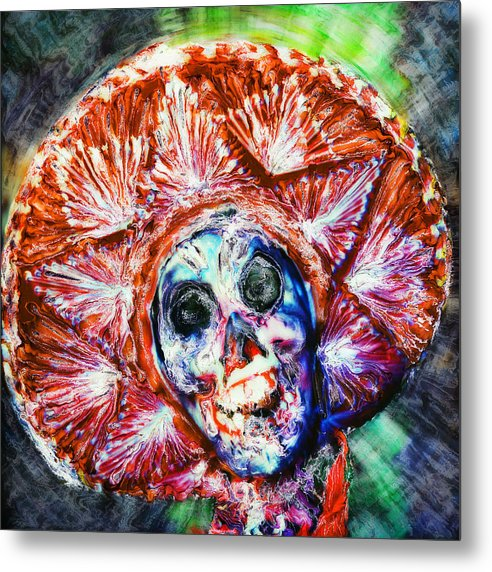 Day Of The Dead Metal Print featuring the painting Fiesta Sombrero by Paul Tokarski