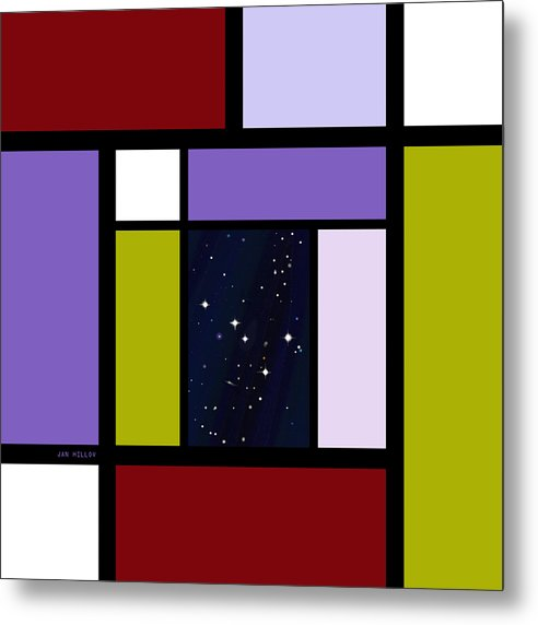 Abstract Metal Print featuring the digital art Universal Digital Art 2 by Jan Hillov