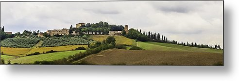 2005 Metal Print featuring the photograph Ville Di Corsano Near Siena - Tuscany Italy by Karen Stephenson