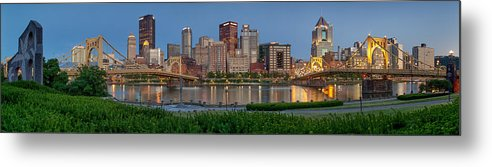 Pittsburgh Metal Print featuring the photograph Nor'side Pano by Jennifer Grover
