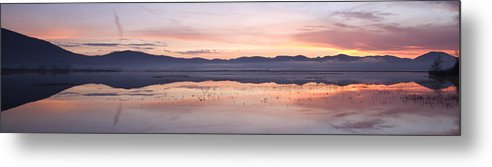 Lake Metal Print featuring the photograph Cerknica Lake At Dawn by Ian Middleton