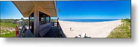 Panorama Metal Print featuring the photograph Casey Key Life Guard Tower by Rolf Bertram