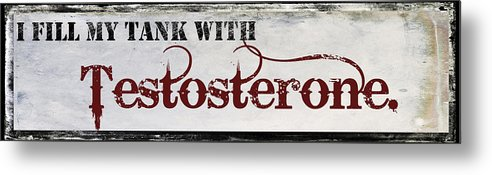 Mancave Metal Print featuring the painting Testosterone by Mindy Sommers