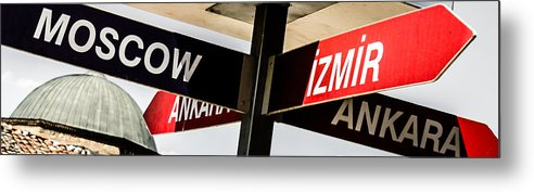 Advice Metal Print featuring the photograph The Signpost by Sotiris Filippou