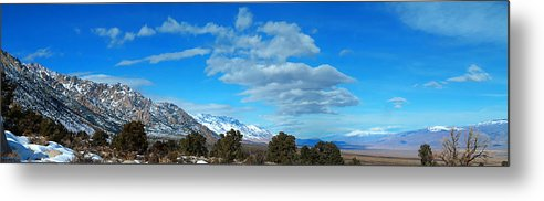 Eastern Sierra Metal Print featuring the photograph Eastern Sierras Panoramic - U S 395 California by Glenn McCarthy Art and Photography