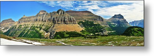 Glacier National Park Metal Print featuring the photograph Logan Pass Panorama by Greg Norrell