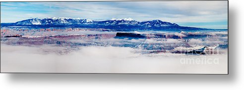 Outdoors Metal Print featuring the photograph Mist Over Canyonlands I by Irene Abdou