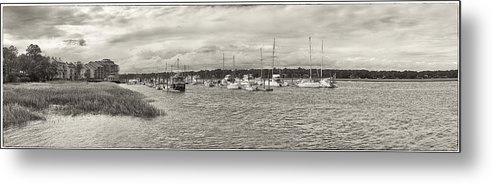 Palmetto Bay Metal Print featuring the photograph Palmetto Bay Marina Panorama by Bill LITTELL