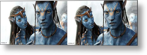 3d Metal Print featuring the photograph Neytiri And Jake - Gently Cross Your Eyes And Focus On The Middle Image by Brian Wallace