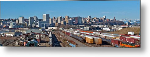 Tacoma Skyline Metal Print featuring the photograph Tacoma City Wide View by Tikvah's Hope