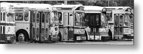 Old Bus Metal Print featuring the photograph The Finish Line by Karl Anderson