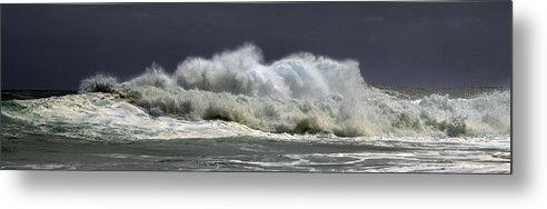 Churning Breaker Metal Print featuring the photograph Churning Breaker by Frank Wilson