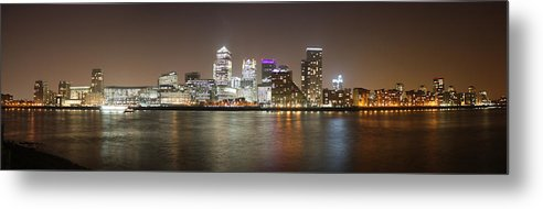 London Metal Print featuring the photograph Canary Wharf by Cath Dupuy
