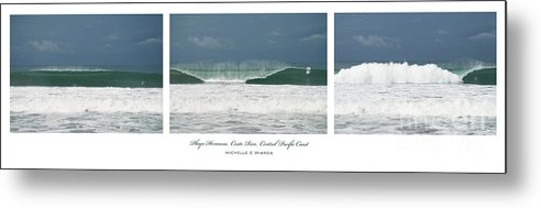 Wave Metal Print featuring the photograph Playa Hermosa Wave Triptych Central Pacific Coast Costa Rica by Michelle Constantine