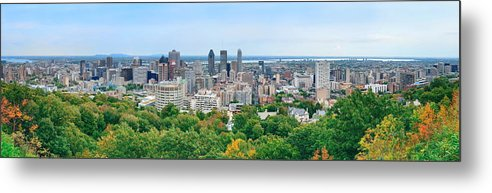 Montreal Metal Print featuring the photograph Montreal Day View Panorama by Songquan Deng
