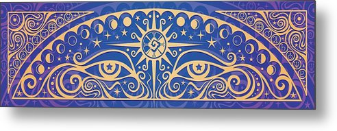 Celestial Metal Print featuring the painting Celestial Gaze by Cristina McAllister