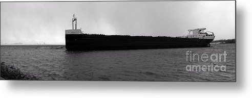 Ship Metal Print featuring the photograph Ship Aground 1 by Kathi Shotwell