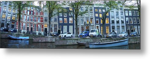 Finland Metal Print featuring the photograph Twisted Panorama. Amsterdam by Jouko Lehto