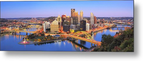 Steelers Metal Print featuring the photograph Pittsburgh Pano 22 by Emmanuel Panagiotakis