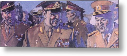 Russian Metal Print featuring the painting The Russian Generals by Michael Facey