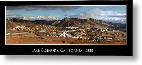 Landscape Metal Print featuring the photograph Lake Elsinore 2008 by Richard Gordon