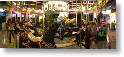 Merry-go-round Metal Print featuring the photograph Stylized Merry-go-round Photo by Jeff Schomay