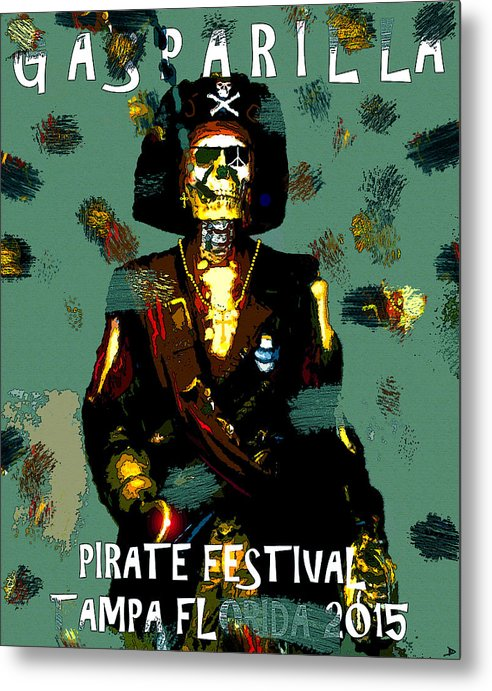 Gasparilla Metal Print featuring the painting Gasparilla Pirate Fest 2015 Full Work by David Lee Thompson