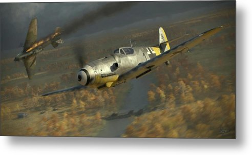 Wwii Metal Print featuring the digital art 200 - Painterly by Robert Perry