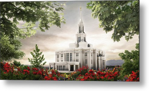Payson Metal Print featuring the painting Payson Temple by Brent Borup