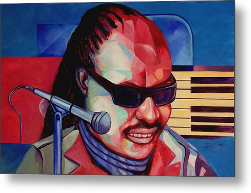 Original Fine Art By Lloyd Deberry Metal Print featuring the painting Music Man by Lloyd DeBerry