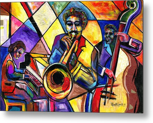 Everett Spruill Metal Print featuring the painting And Then There Was Da Blues by Everett Spruill