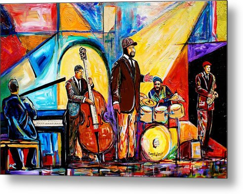 Birmingham Metal Print featuring the painting The Gregory Porter Band by Everett Spruill