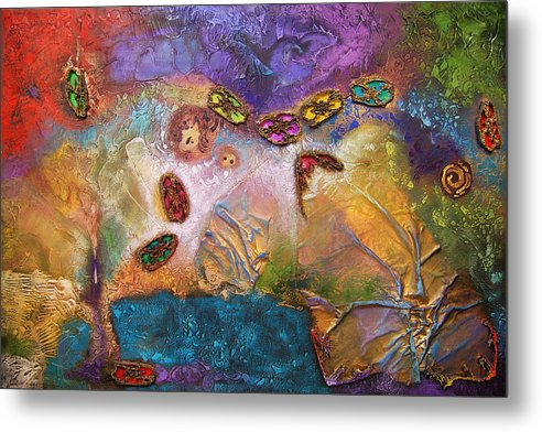 Metal Print featuring the painting Jewels Of The Sky by Farhan Abouassali