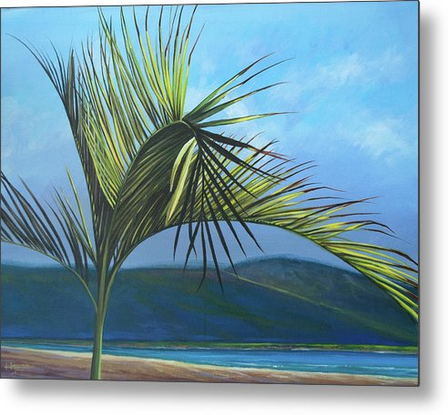 Palm Metal Print featuring the painting Tropicando by Hunter Jay