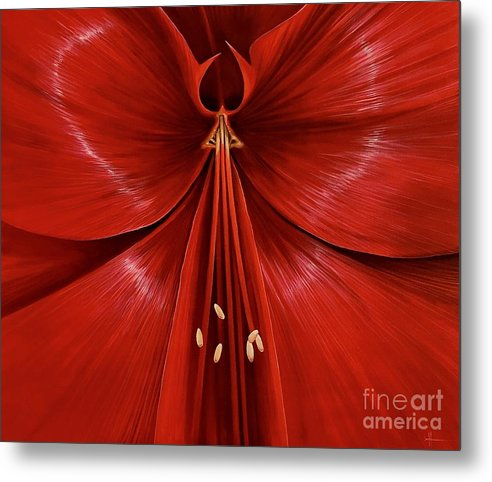 Amaryllis Metal Print featuring the painting Exotica by Hunter Jay