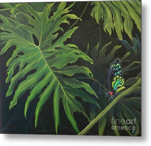 Butterfly Metal Print featuring the painting Tropicalia by Hunter Jay