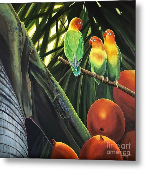 Palm Metal Print featuring the painting Tamboo by Hunter Jay
