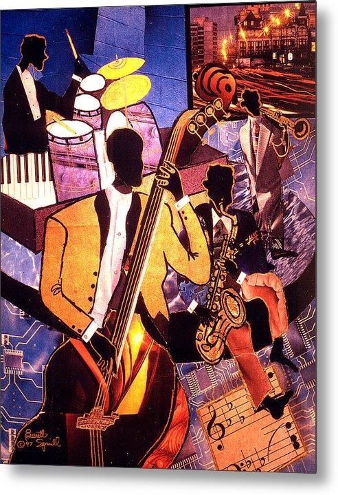 Everett Spruill Metal Print featuring the painting The Blues People by Everett Spruill