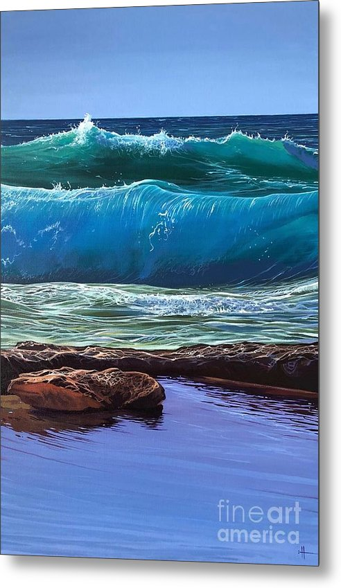 Puerto Vallarta Metal Print featuring the painting Aguas de Marco by Hunter Jay