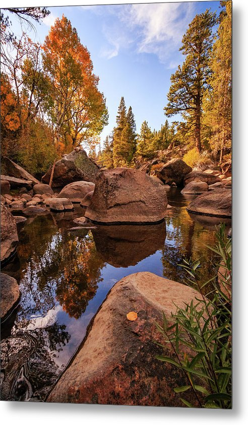 Early Autumn Carson River Reflections by Mike Herron