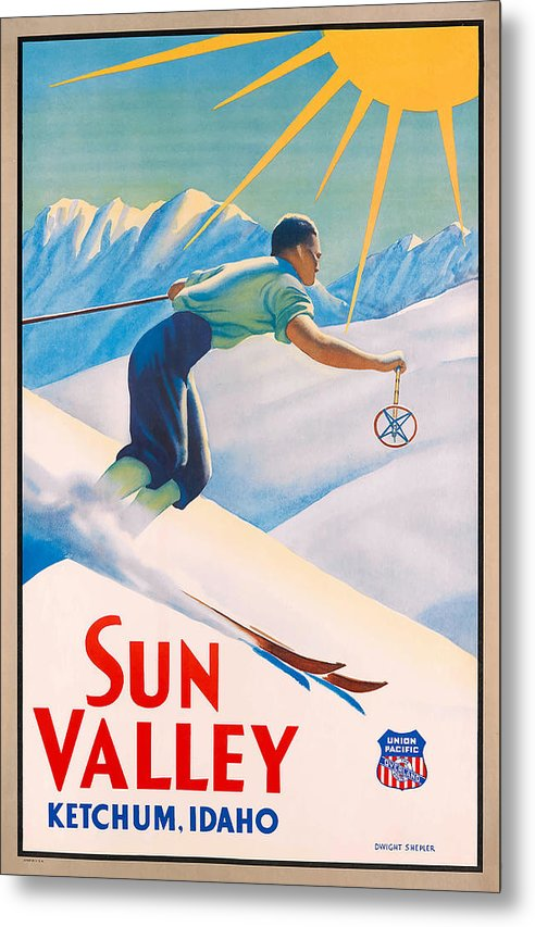 1940 Sun Valley Union Pacific Poster by Retro Graphics