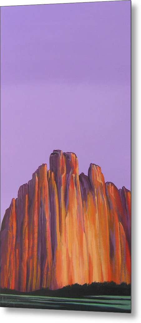 Landscape Metal Print featuring the painting Inscription Rock by Hunter Jay