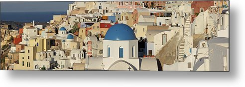 Tranquility Metal Print featuring the photograph Oia Architecture by Sandra Kreuzinger