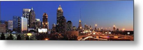 Atlanta Metal Print featuring the photograph Panorama Of Atlanta, Georgia by Jumper