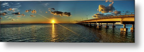 Panoramic Metal Print featuring the photograph Queen Isabella Causeway by Joshua Bozarth