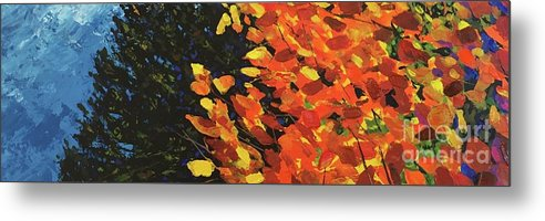 Aspen Metal Print featuring the painting Woodland Spirit by Hunter Jay