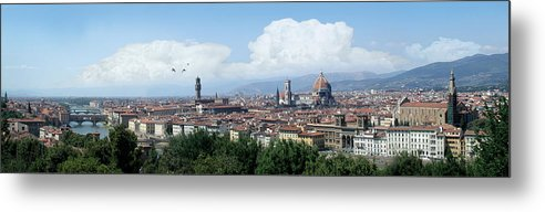 Florence Metal Print featuring the digital art The most beautiful city in the world by Harold Shull