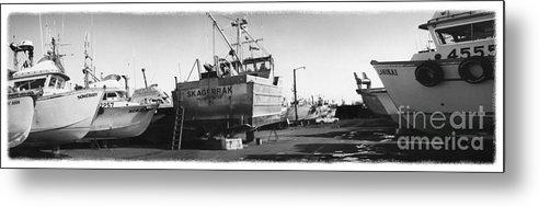 Alaska Metal Print featuring the photograph The Real Alaska - Dry Dock 2 by Pete Hellmann