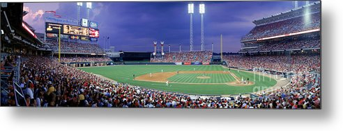 Great American Ball Park Metal Print featuring the photograph Houston V Reds by Jerry Driendl